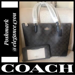 ✨COACH✨Authentic Signature Tote & Wallet Set NEW!